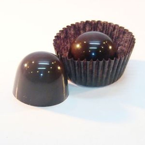 50 Raspberry, Traditional Chocolate Truffles (with dairy), Bulk Packed