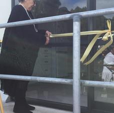 Moyra Te Ariki Bramley cutting the ribbon