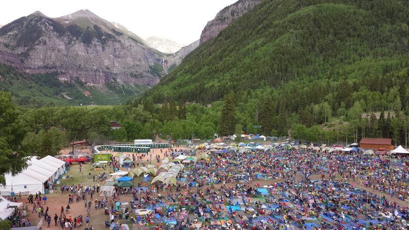 Telluride Bluegrass Festival From Above