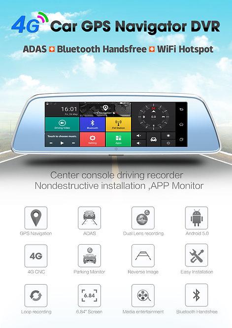 "7.84"" FHD 1080P Android 5.0 4G&WIFI GPS Navigation Car Dvr Camera"