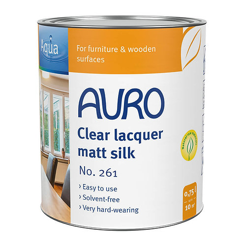 No. 261 - Clear lacquer, matte silk