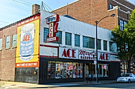Ace Hardware store in Chicago, formerly the Sunset Cafe