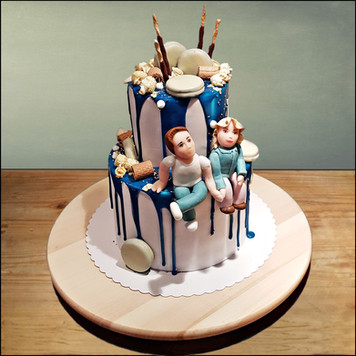 verliefde taart
