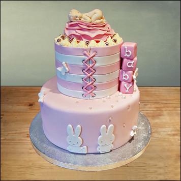 baby shower taart