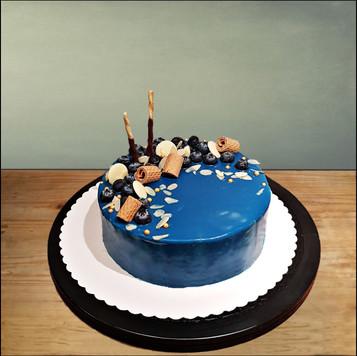 blauwe bessen taart