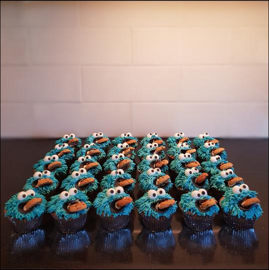 coockiemonster cupcakes