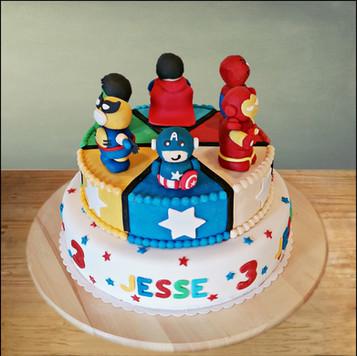 Marvel taart`
