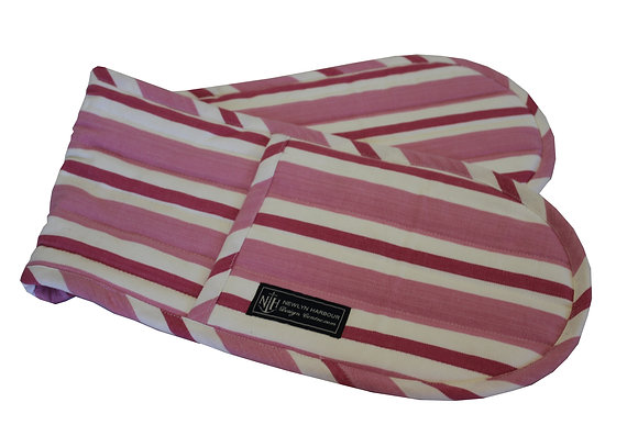 Pink Coral Oven Glove