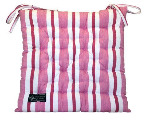 Pink Coral Cream Seat Cushion
