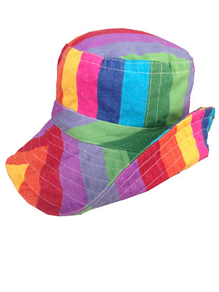 Rainbow Wide Brim Hat