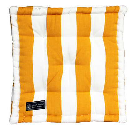 Sunshine Stripe Box Cushion