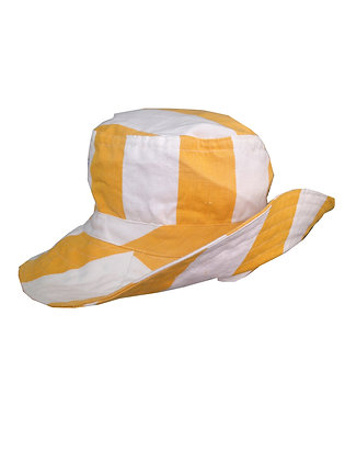 Sunshine Stripe Wide Brim hat