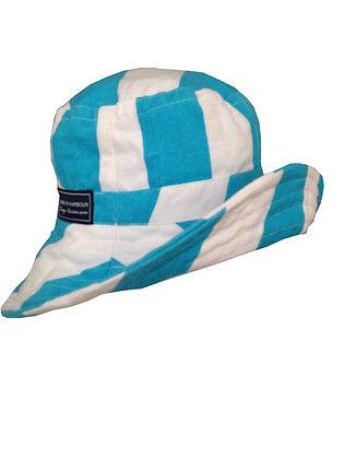 Azure Ocean Wide Brim Hat