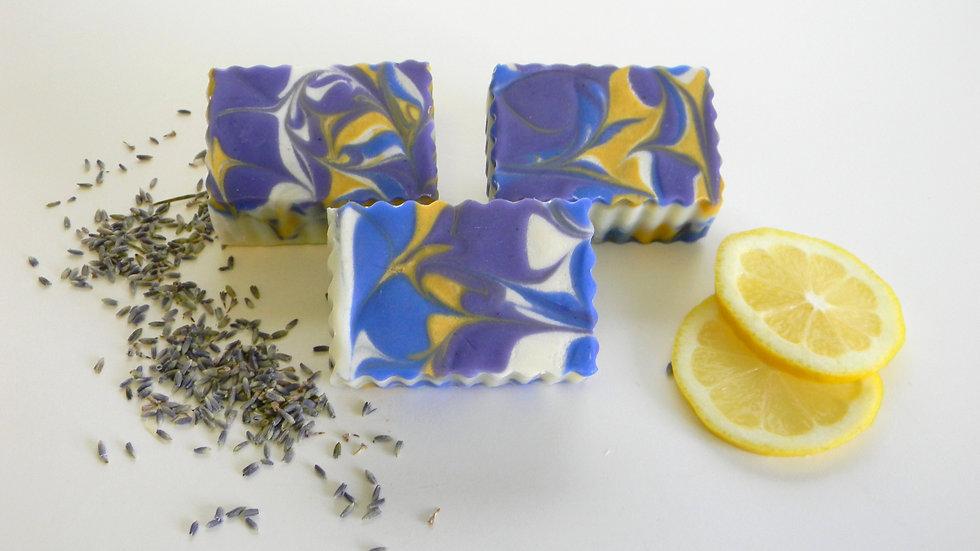 Lavender & Lemon Swirl Soap