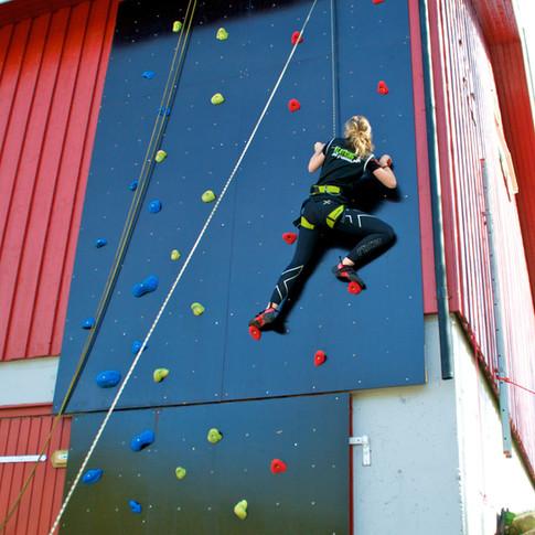 8 m høy klatrevegg