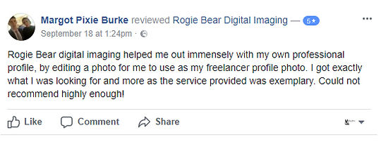 Rogie Bear helped me out immensely with m own professional profie. I got exactly what I ws looking for and more as the srvice proided was exemplary.
