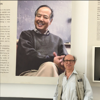 Frank (Background picture: Prof. T.D. Lee). Photocredit: Betsy Devine