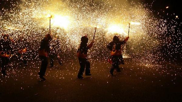 Ball de Diables Els Petits del Foc al Correfoc de Gavà (2015)