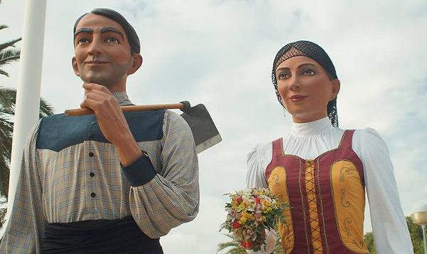 Gegants Nous de Les Roquetes durant la Festa Major de Santa Eulàlia 2016