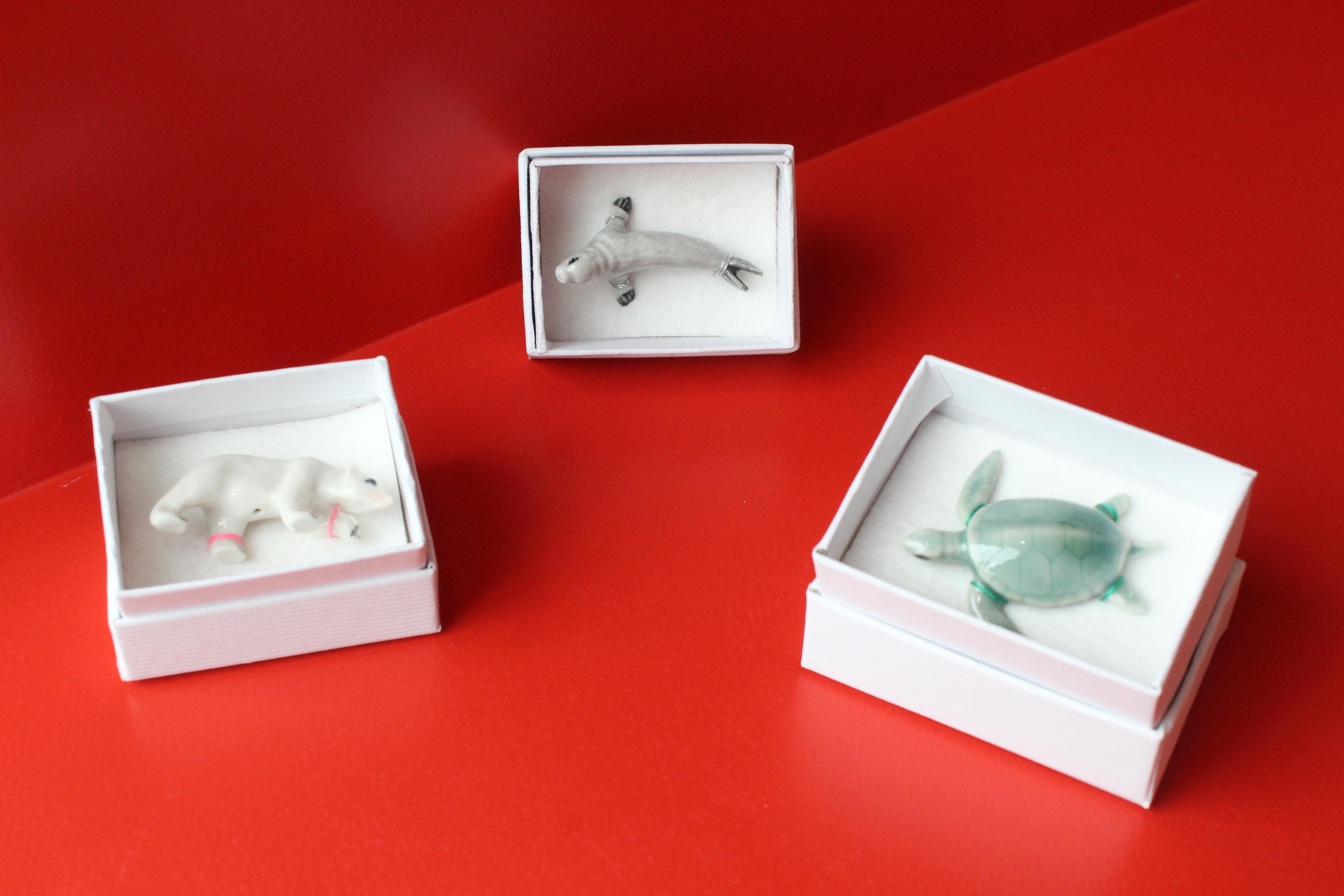 Petit animal en porcelaine / Sixtine Jacquart