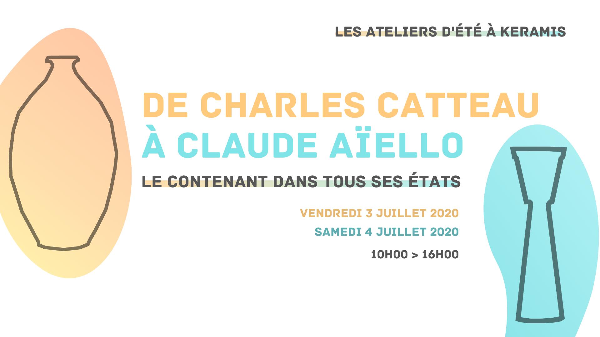 De Charles Catteau à Claude Aïello : le contenant dans tous ses états