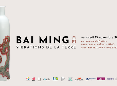 "Vernissage de l'exposition ""Bai Ming. Vibrations de la Terre"""