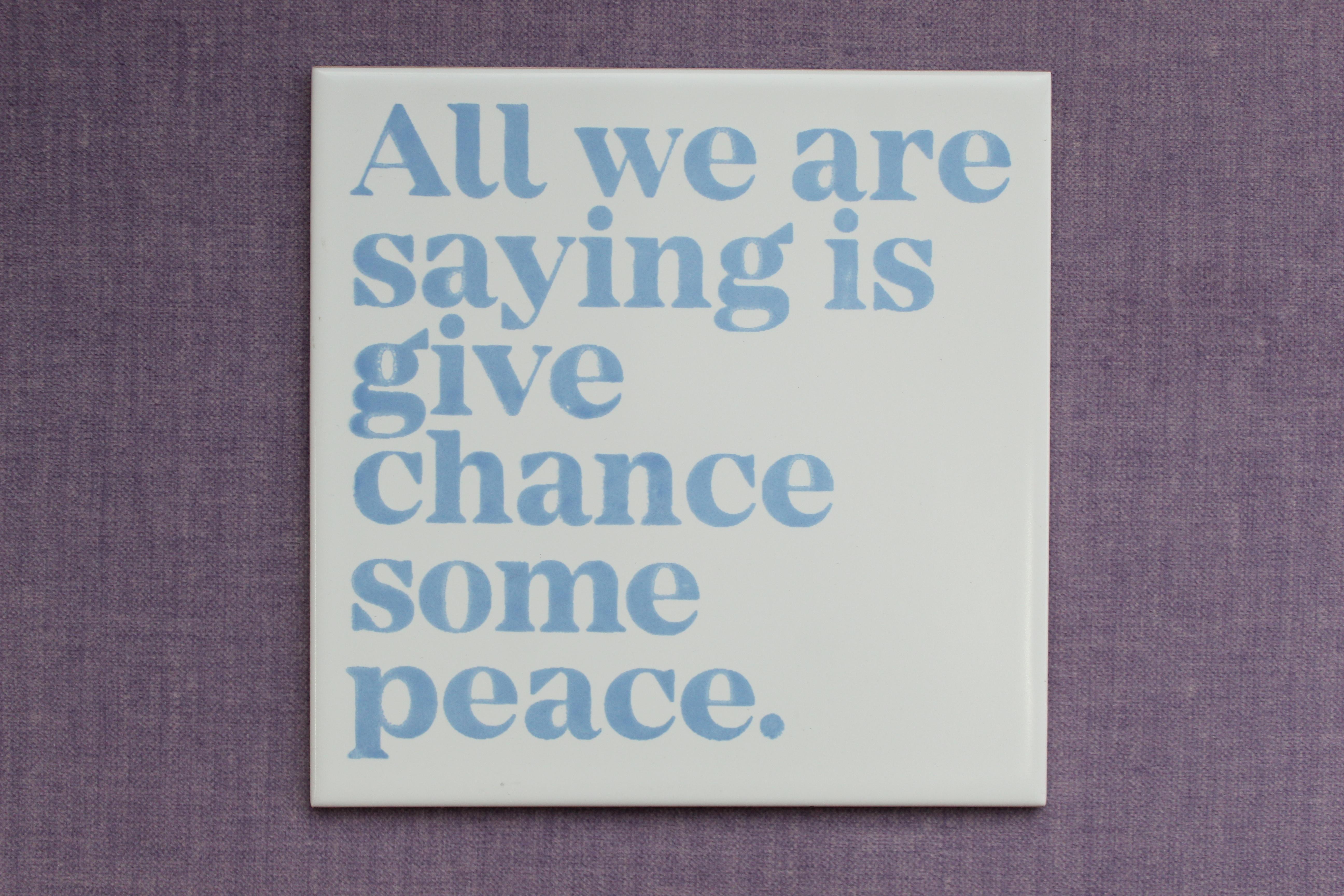 Carrelage sérigraphié en céramique de Tom Singer