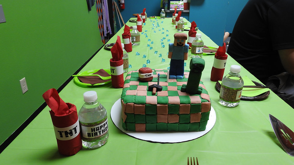Lego and Minecraft Birthday