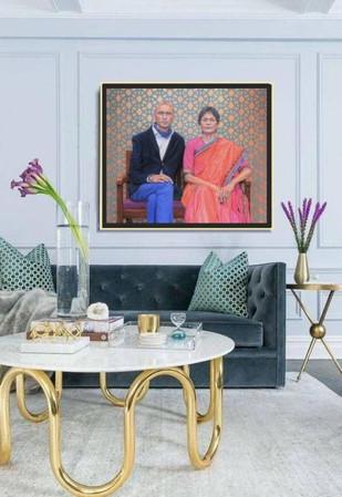 portrait-réaliste-huile-homme-femme-indiens