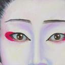 peinture-huile-maquillage-kabuki-grues