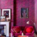 peinture-à-l-huile-femme-bleue-pétales-de-roses-décoration-intérieur