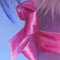 peinture-huile-chien-ruban-rose