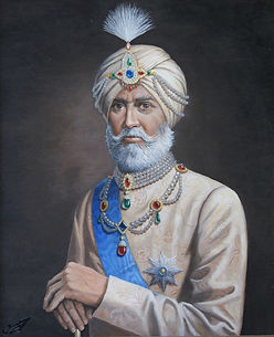 portrait-huile-maharadja-bijoux