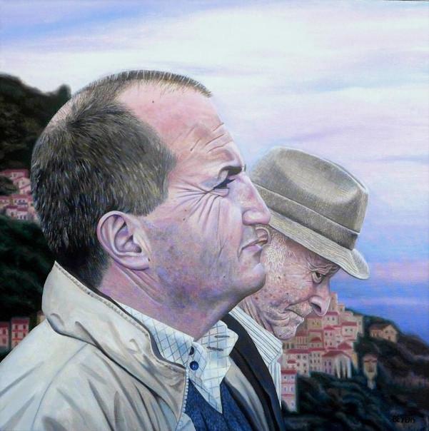 portrait-peinture-huile-calabrais-profil