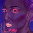 peinture-huile-femme-bleu-cristal-vert-v