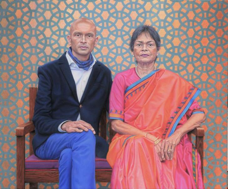 portrait-peinture-huile-indien-indienne-