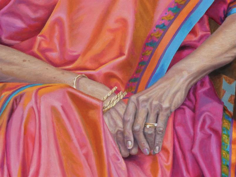 portrait-peinture-huile-sari-indienne-em