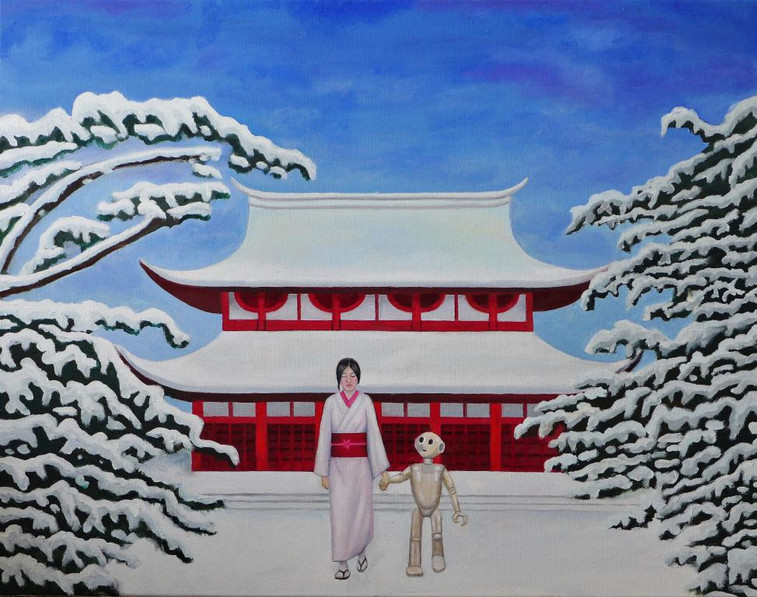 peinture-huile-temple-japonais-neige-rob