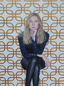 portrait-peinture-huile-femme-hyperréalisme-blonde