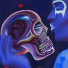 Peinture-à-l-huile-crâne-de-cristal