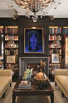 peinture-a-l-huile-emmanuel-beyens-interieur-decorateur-femme-bleue-cloche-verre