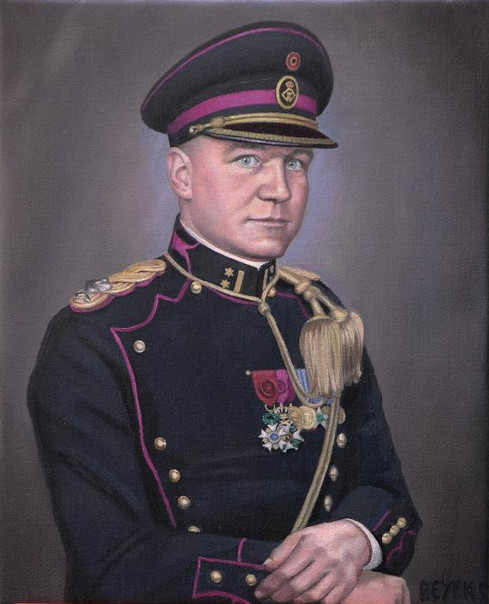 portrait-peinture-huile-colonel-régiment