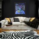 peinture-huile-penseur-derodin-wc-terre-écologie-décoration