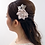 Thumbnail: French Beaded Flower Hair Comb with Swarovski Elements