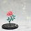 Thumbnail: Eternal Bloom - French Beaded Rose Glass Dome