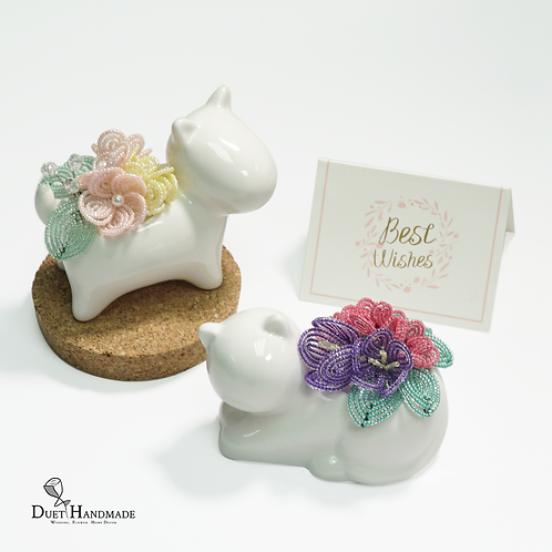 French Beaded Mini Animal Decor