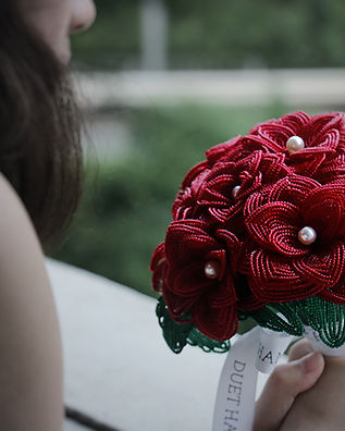 Duet Handmade_Banner_French Beaded Flower Wedding Bouquet.JPG
