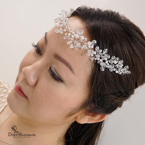 Swarovski Pearl & Cystal Hair Vine