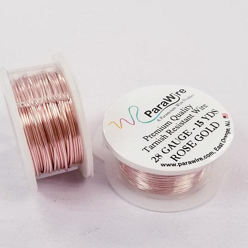 Rose Gold Color, Non-Tarnish Copper Wire (16g/18g/20g/28g)