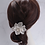 Thumbnail: French Beaded Double Flower Hairpin